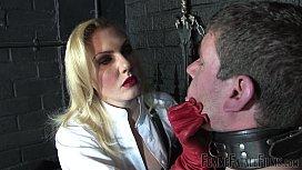 Off The Wall part Mistress Akella FemmeFataleFilms Face Slapping