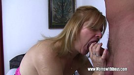 Mature Blonde Stepmom Fucks Her Lucky Stepson