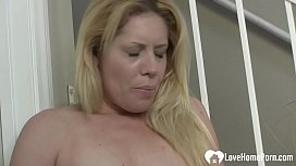 Lovely blonde Lisa is ready for action