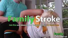 FamilySTROKE.net - MOM Sex Yoga Cowgirl Sex