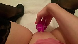 year old playing with new dildo add my Snapchat for more candicebabexo