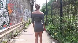 Sexy blonde teen Sallys public flashing and daring exhibitionist adventures xxx video