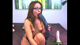 Thick Brazilian Masturbates With Her Toys