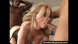 RealMomExposed Horny Milf Gets Double Penetrated