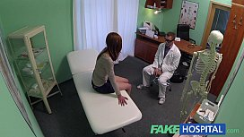 FakeHospital Passionate redheads tight pussy causes creampie from doctor