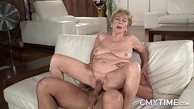 Granny With Large Tits Getting Her Pussy Fucked