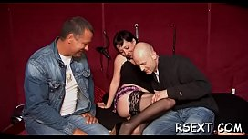Bewitching skinny hooker takes a hard pounding from behind
