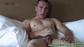 Marine masturbating to gay thoughts