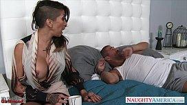 Tattooed gf Kayla Carrera ride a large dong