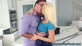Stepteen gets tits cummed