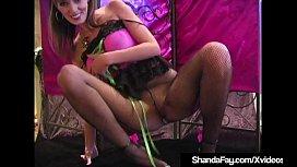 Hosed &amp_ Barefoot Cougar Shanda Fay Foot Fucks A Hard Cock!