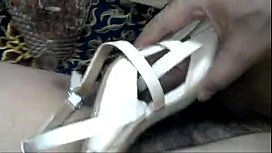 finally cum on wifes pair sandal