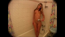 Cute blonde in the shower backroom casting couch
