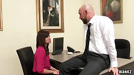 WANKZ Sexy Office Assistant Fucks Her Boss
