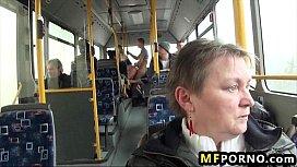 Blondie fucked on public bus Lindsey Olsen 2