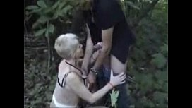 My horny bitch used by strangers outdoor. Public nudity