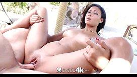 K ExoticK Latina Jade Jantzen oiledup for poolside sex