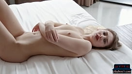 German MILF model with perky tits solo softcore porn
