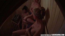 Three Hot Girls Have a Fun in Pool&acutes Sauna