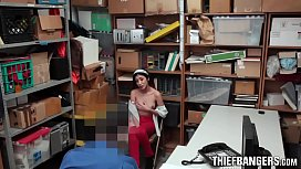 Stunning Teen Thief Angel Del Rey Fucks Creepy Officer For Free Pass