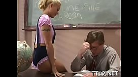 Blameless schoolgirl gets pussy fingered and fucked deep