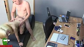 Fucked session with different postures in the office CRI