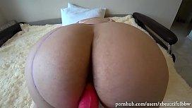 POV.milf fucks girlfriend with big juicy ass! Spiked Dildo