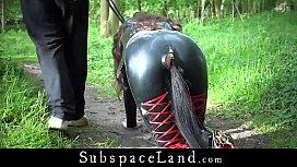 Full day exploitation of sexy latex slave Julie Jodar