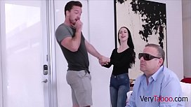 Evil Sister Fucks Brother Keeping Blind Dad In Room- Bambi Black