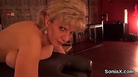 Unfaithful british mature lady sonia exposes her heavy boobs