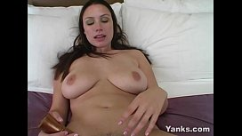 Busty Rucca Toys Her Hairy Snatch