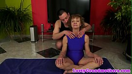 Euro grandma with hairy pussy gets assfucked