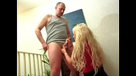 Intense Condom Handjob xxx video