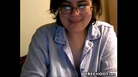 Teen Geek Flashes Her Privates And Takes A Showerm