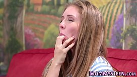 Lesbian milf rubbing teen