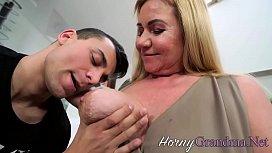 Tit fucking granny spunk