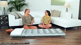 NuruMassage Jane Wilde Gives A Birthday Threesome Massage