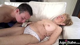 Naughty Malya offers her young boyfriend Rob to taste her wet pussy