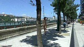 Aiko May naked on public streets