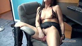 Petite MILF Naomi Shah fucks her exotic pussy with a toy