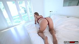 My horny Stepmom MILF showed me her new lingerie set