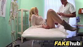 Fake Hospital Dirty doctor gives blonde Czech babe wet panties xxx image