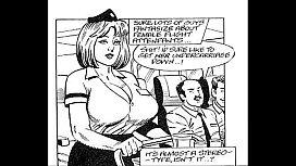 Busty big naturals tits stewardess takes on huge cock threesome xxx comic