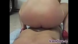 Blonde Grandma Enjoying Cock Point Of View