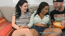 Leaked homemade foursome sex tape