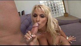 Gorgeous blonde pornstar Holly Halston demonstrates amazing porn skills