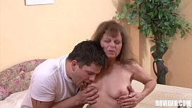 German mature whore take an young cock