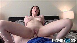 PropertySex - Young real estate agent with big natural tits homemade sex