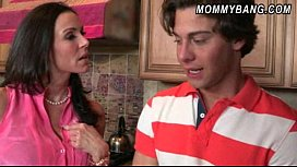 Young couple hard fucking and got busted by stepmom Kendra Lust