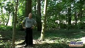 Short-haired slim blonde wife cheats in the woods with her neighbour old freaky bankier (2) xvideos preview